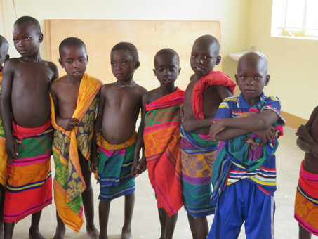 The first day of our Karamoja children in Vision for Africa