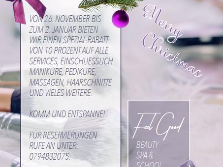 Weihnachtsrabatt-Aktion im Beauty Salon