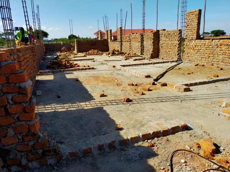 Building progress of the Karamoja Primary School