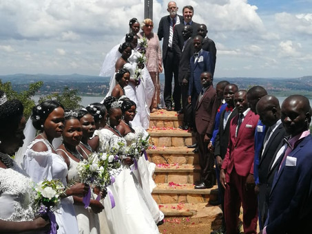 A beautiful huge wedding on the Prayer Mountain