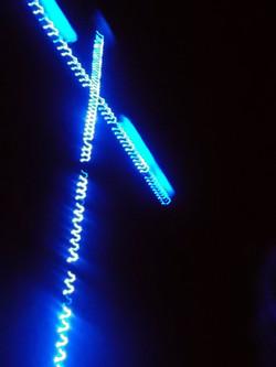 Beleuchtetes Kreuz