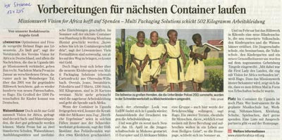 Großspende von Arbeitskleidung - Heilbronner Stimme