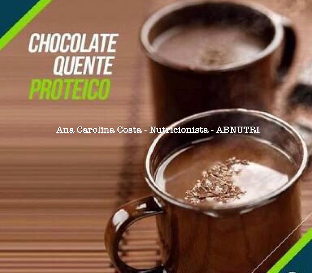 Chocolate Quente Proteico.