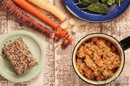 Receita de Salada de quinoa com lentilha.