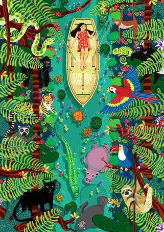 Jungle print work, 2018