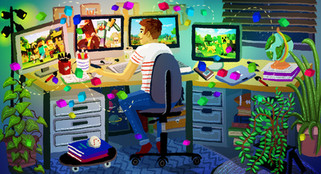 Illustration for BuzzFeed UK