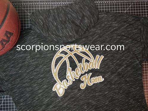 Basketball mom zip up hoodie