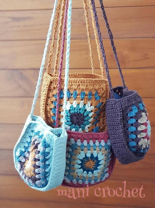 奶奶方形包_Granny Square bag_手工編織包(Manicrochet Collections)
