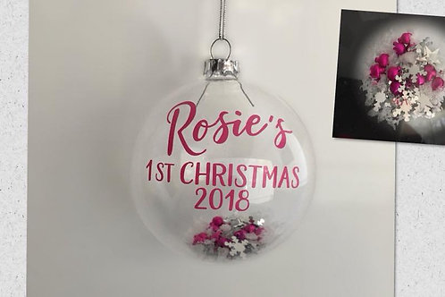 Personalised Baby's first christmas Bauble 2020