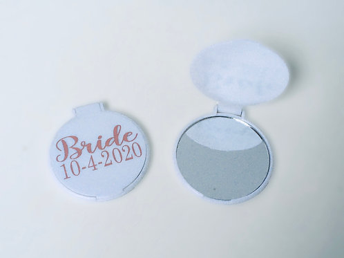 Small compact mirror - Personalised with Role and Date