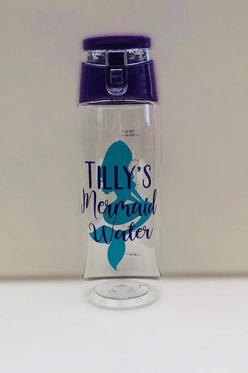 Mermaid Water Bottle - Personalised with name