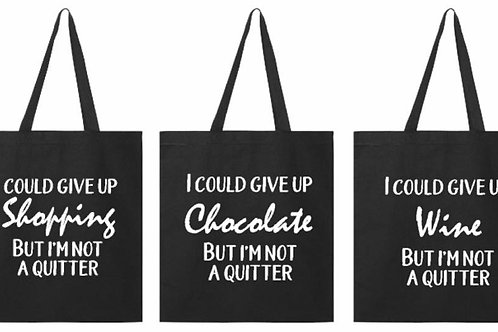 Natural cotton Tote bag - what could you give up?
