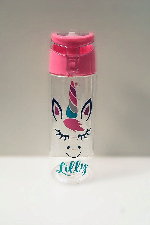 Unicorn bottle - Personalised with name