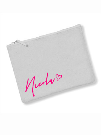 Personalised makeup/pencil/accessory bag - 4 great colours to choose from