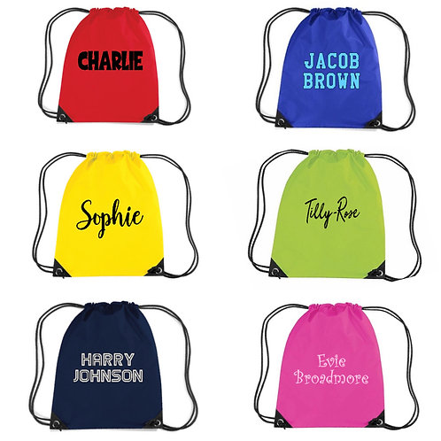 Personalised Draw String Bag - choose your Design