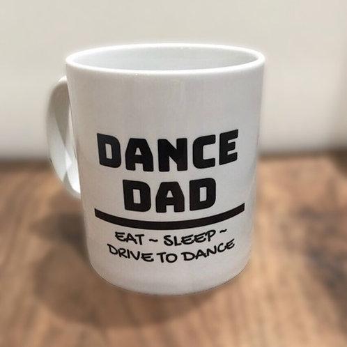 Mug & Coaster  - 'Dance Dad, Eat-Sleep-Drive to dance'