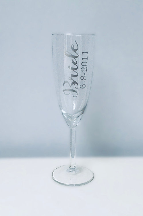 Champagne/Prosecco flute personalised with Name and Role