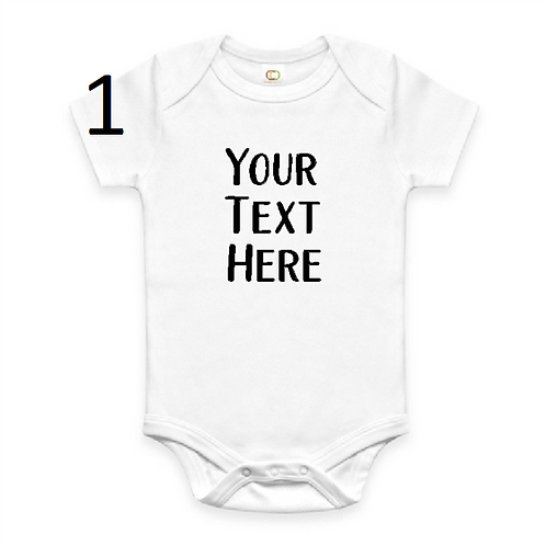 Personalised Baby Vest - Add your own wording