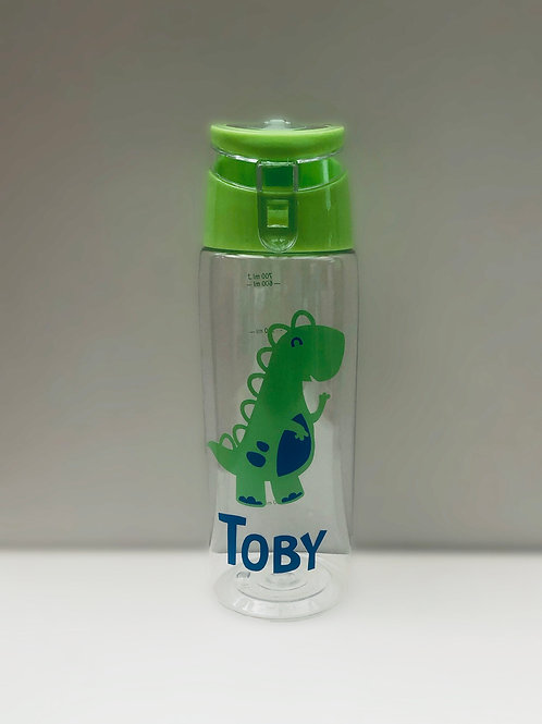 Dinosaur bottle - Personalised with name