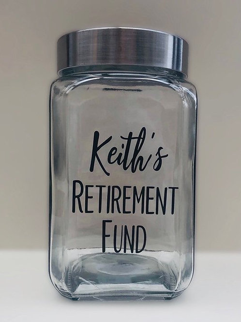 Retirement fund savings Jar