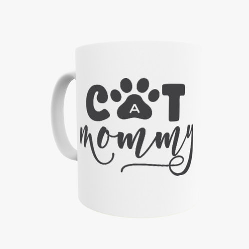 Cat Mommy Mug - Can be personalised with a message o