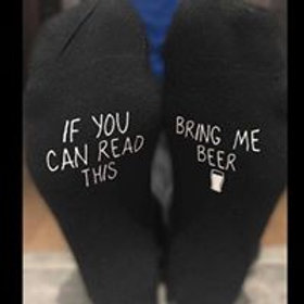 Socks - If You can read this bring me Beer