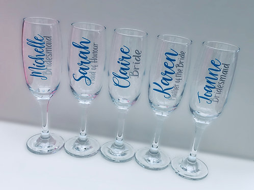 Personalised Wedding, Champagne/prosecco flute