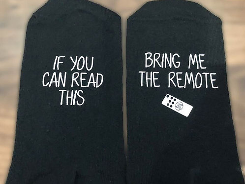Socks - If You can read this bring me the remote