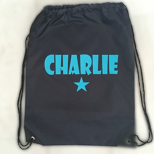 Draw String Bag With Name & Star