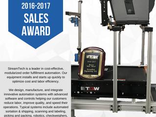 StreamTech Engineering Wins 2016-2017 TGW Sales Award