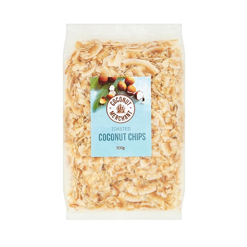 Organic Toasted Coconut chips 500gr
