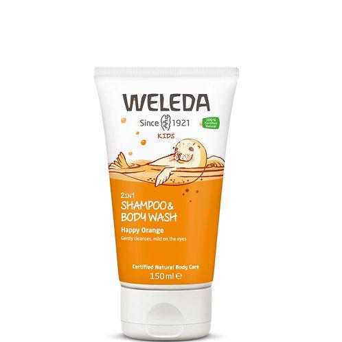Kids 2in1 Shampoo and Body Wash Happy Orange 150ml