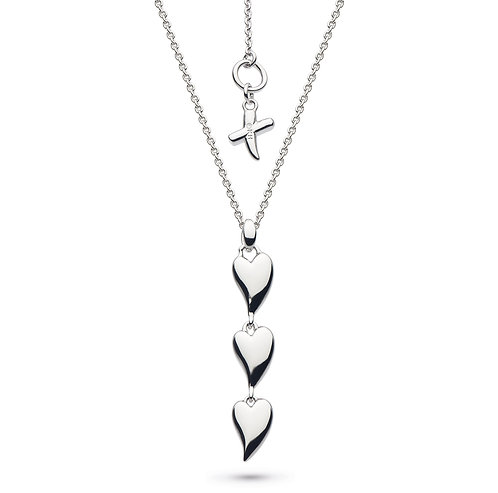 Desire Kiss Triple Hearts Necklace