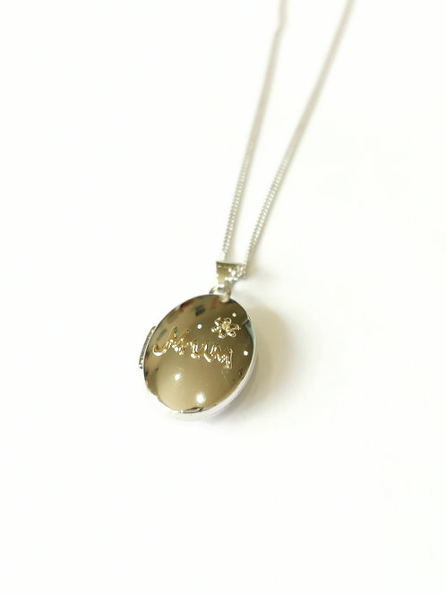 Silver and Gold Plated 'Mum' Locket on Chain