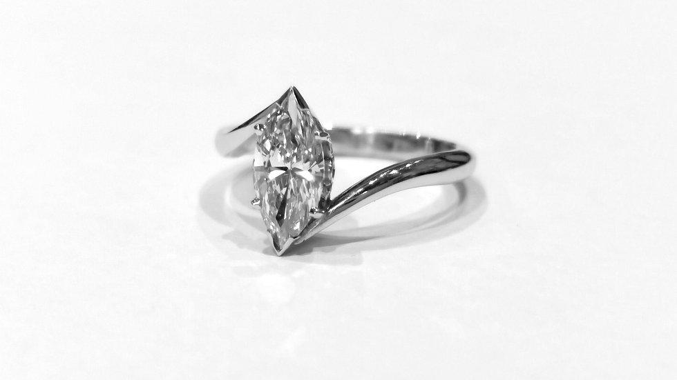 Platinum Marquise set Diamond Ring