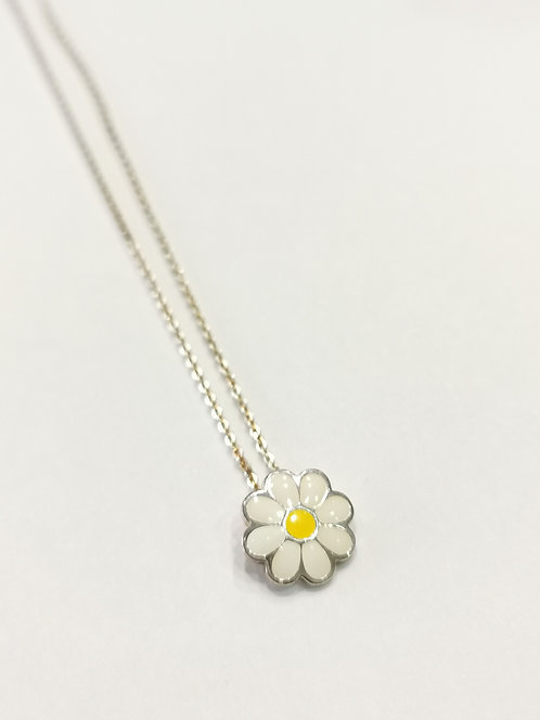Silver and Enamel Children's Flower Necklace