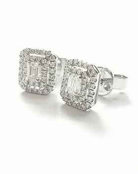 These beautiful emerald cut diamond clus