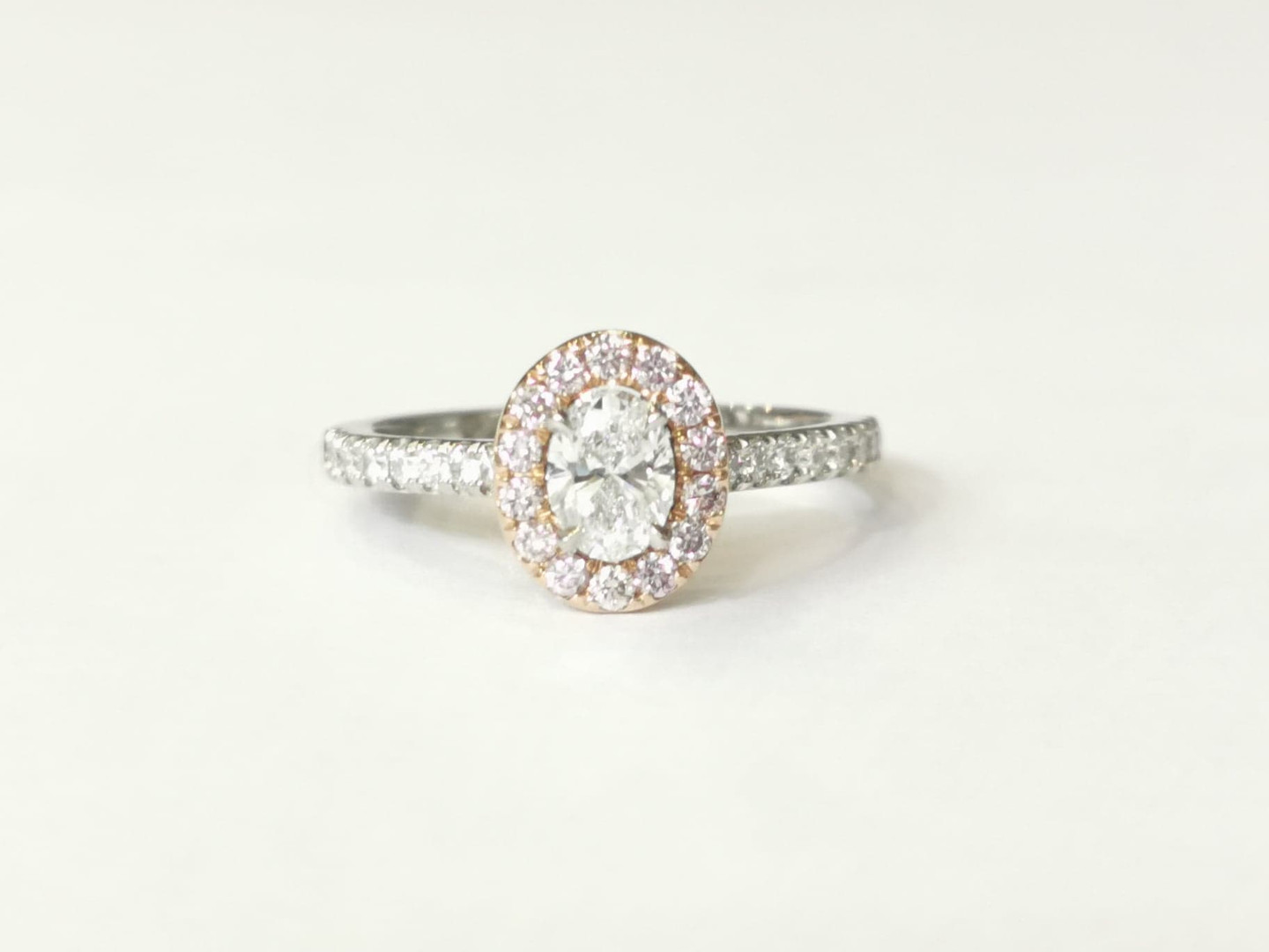 44370 Platinum & 18ct rose gold 0.41ct white diamonds D VS2 + 0.22ct pink diamonds £5600.00