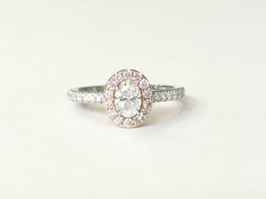 44370 Platinum & 18ct rose gold 0.41ct white diamonds D VS2 + 0.22ct pink diamonds £5600.00