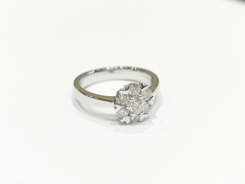 18ct White Gold Fancy Cluster Diamond Ring