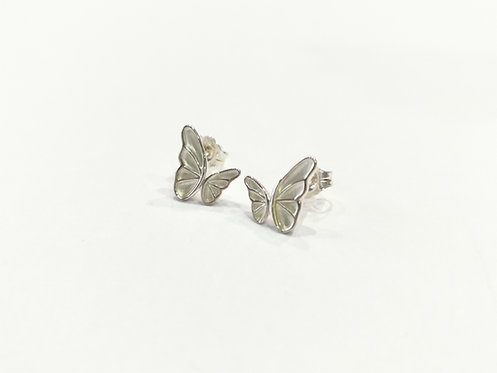 Sterling Silver Butterfly Stud Earrings
