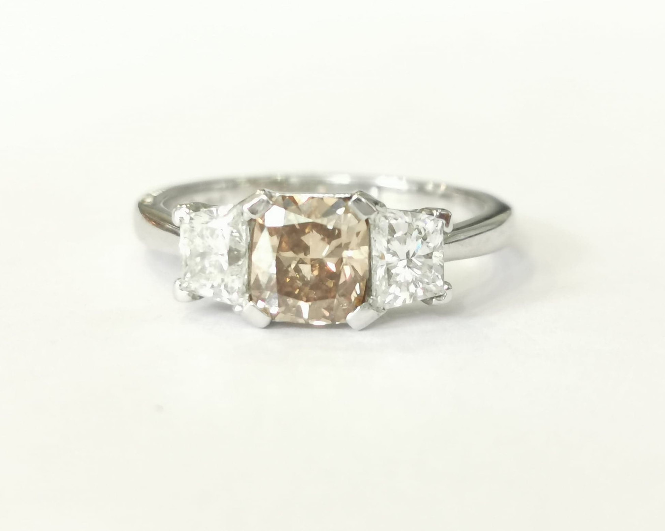 42032 Platinum 1.05ct brown diamond + 0.80ct white diamonds £9750.00