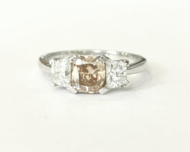 42032 Platinum 1.05ct brown diamond + 0.80ct white diamonds £9750.00