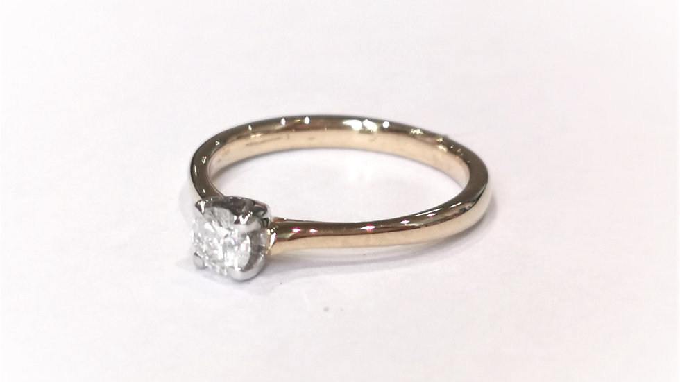 9ct Yellow Gold Claw Set Diamond Solitaire