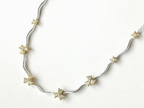 18ct Gold Yellow Diamond Necklace