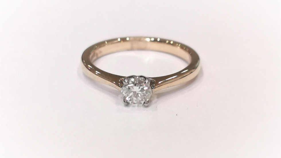 18ct Yellow Gold Diamond Solitaire Ring