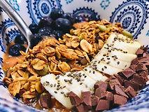 Bowl of Rheem and Dark Chocolate