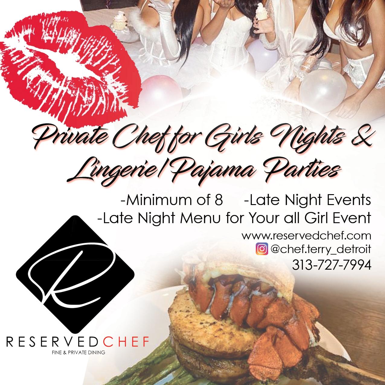 Private Chef Girls Night/Pajama Party