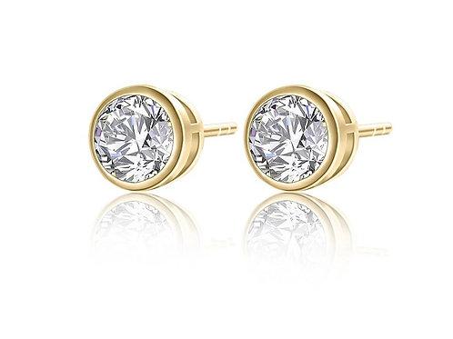 Kylie 18ct Gold Crystal Stud Earrings