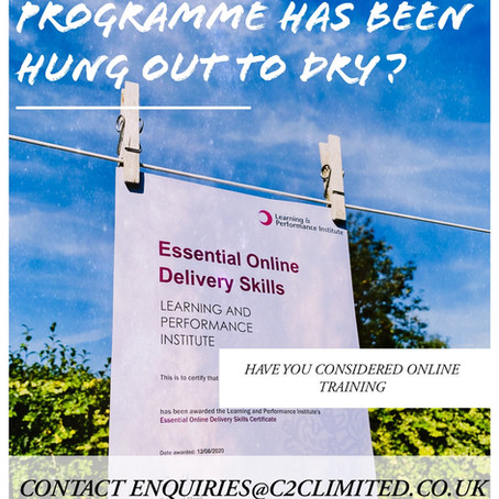 Has your training programme been disrupted